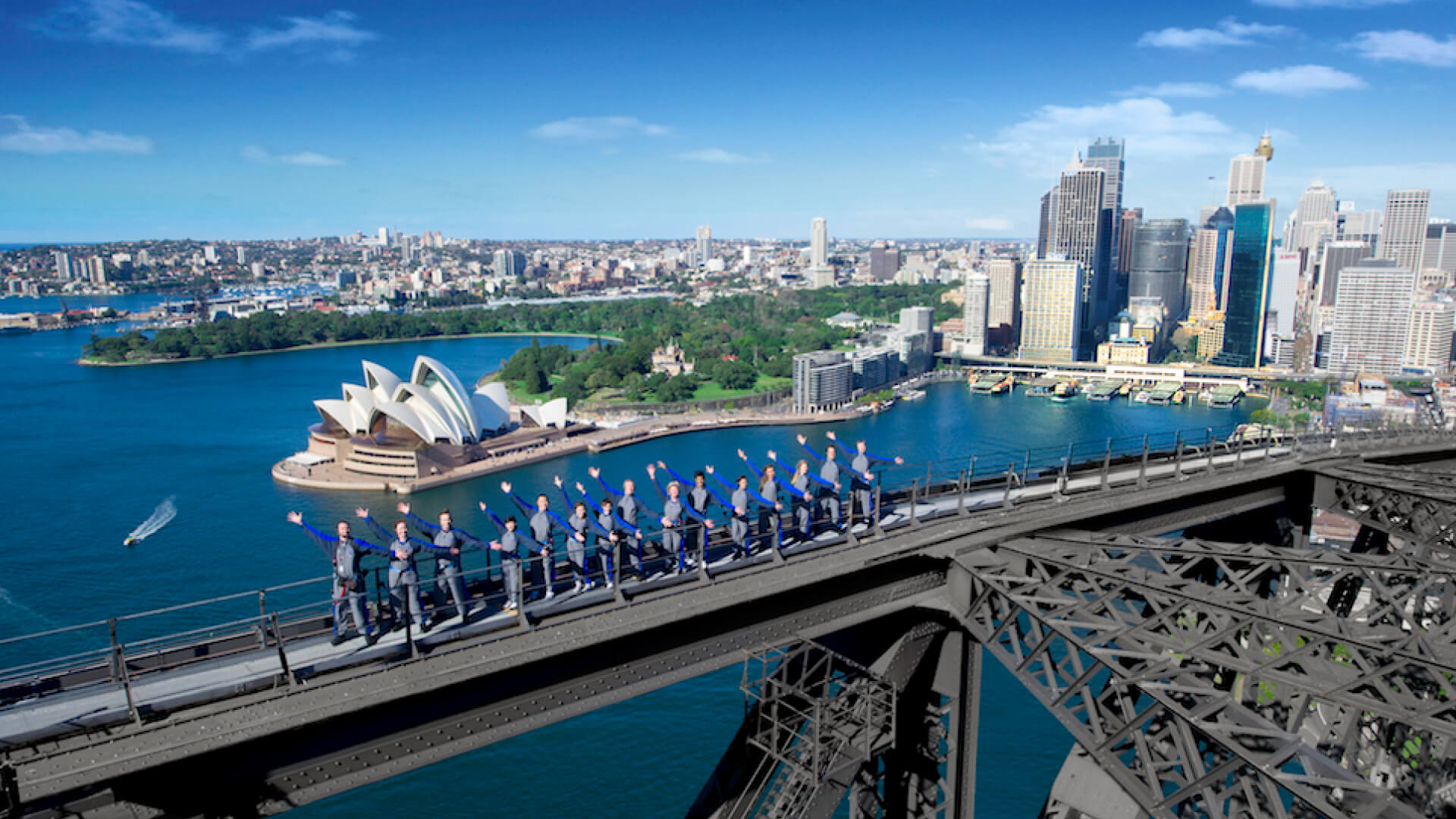 people climbing the Sydney Harbour Bridge