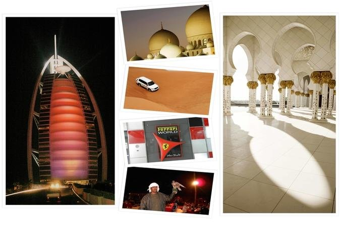 Dubai and Abu Dhabi Sightseeing and Desert Safari 2-Day Tour